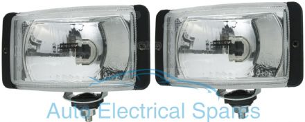 171451 RECTANGULAR Driving Lamps x 2 ( 1 PAIR )